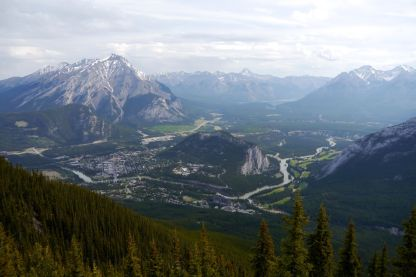 Banff - the view from Sulphur Mountain
