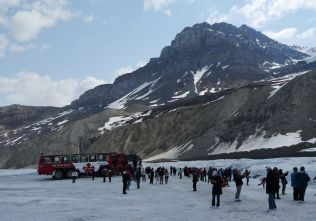 Athabasca Glacier (yes we drove onto the glacier)